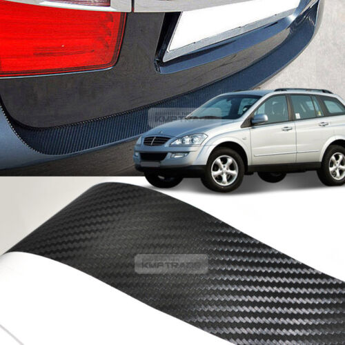 Carbon Black Rear Bumper Protector Decal Sticker for SSANGYONG 2005-2013 Kyron