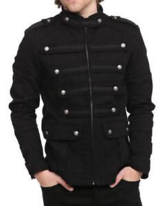 Pour Goth Coat Main Militaire Steampunk Veste Vintage Militaire La Pea Black Guard Hommes CtUnq1w