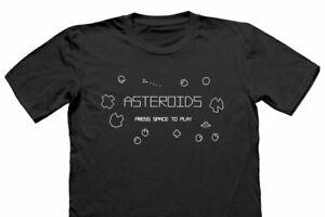 Asteroides-T-Shirt-Retro-GAMER-Nerd-Geek-T-Shirt-Drole-Jeux-Jeu