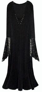 b3502d129a6 Sexy Black Velvet Lace-up Dress Dark Angel Fairy Witch Costume PLUS ...