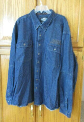 Genuine HARLEY-DAVIDSON MEN/'S SKULL DRAPEAU Veste en jean