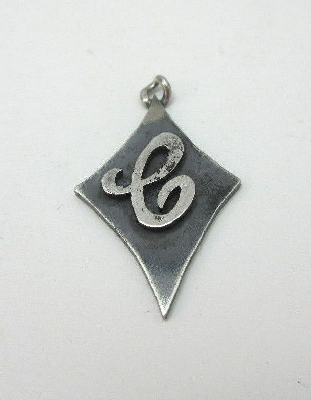 VINTAGE MONOGRAMMED  E  SIGNET PENDANT MARKED J BRICE