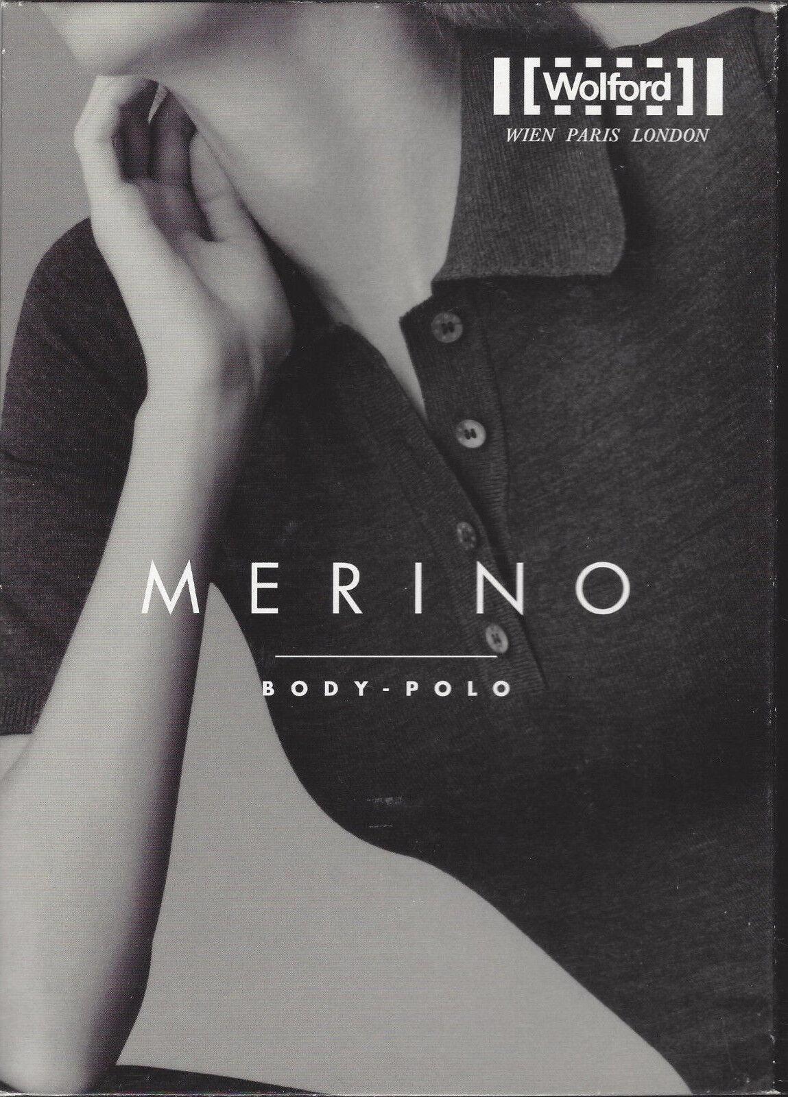 RARITÄT  •  Wolford Merino Body Polo • XS • grey  ... Rundum nahtloser Bodysuit