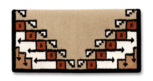 Mayatex The nouveau Pueblo Navajo Saddle Blanket - 38x34