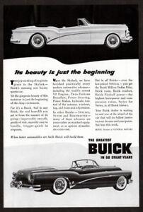1953-BUICK-Skylark-Convertible-Vintage-Original-Print-AD-Black-amp-white-art-En