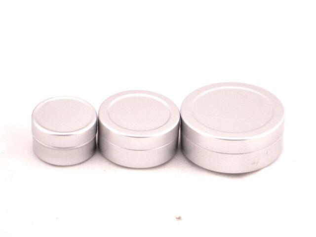 empty Aluminium Balm cosmetic Tin pot jar containers 5ml/15ml/25ml