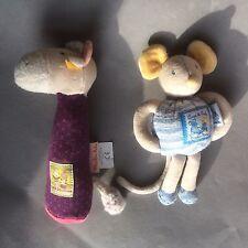 Moulin Roty les primos du Moulin Vaca Mouse Doudou Consolador Squeaky Bebé de Juguete