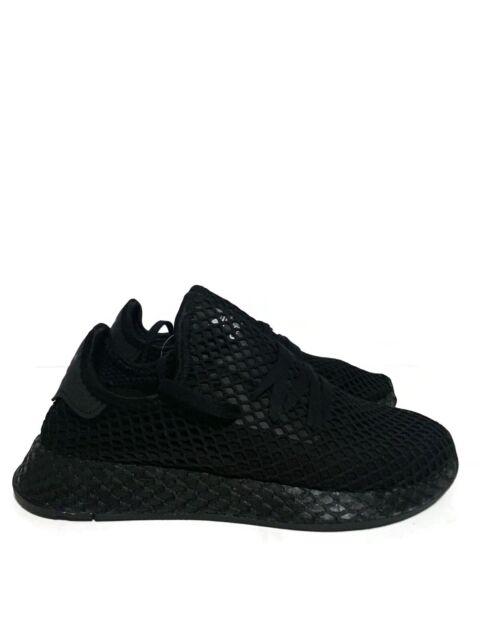 Men's adidas Originals Deerupt Runner B41768 Triple Black White Size 5