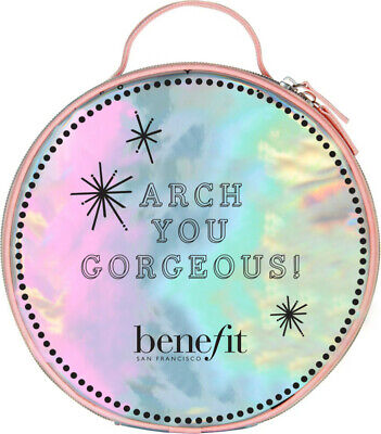 Benefit Cosmetics Arch You Gorgeous ULTA Brows Round Large Cosmetic Bag NEW | eBay