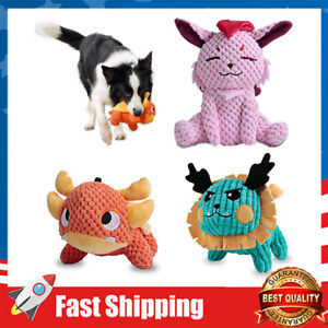 Squeaky Plush Dog Toys Pack Animal Plush Chew Toys for Puppy Dogs Teeth Cleaning