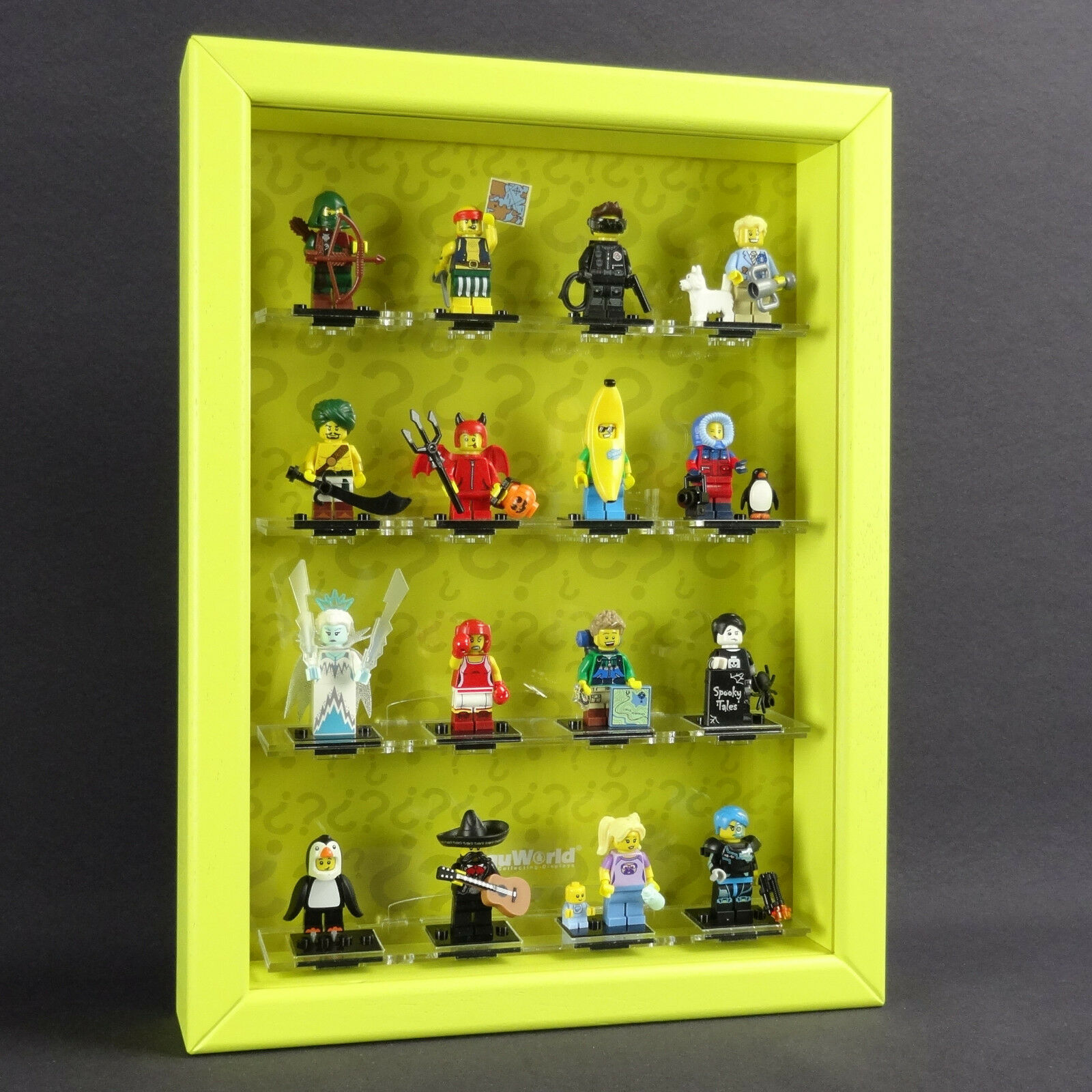 Figucase Collect Showcase for Lego Series 71013 Mini Figurines 16 Display Case