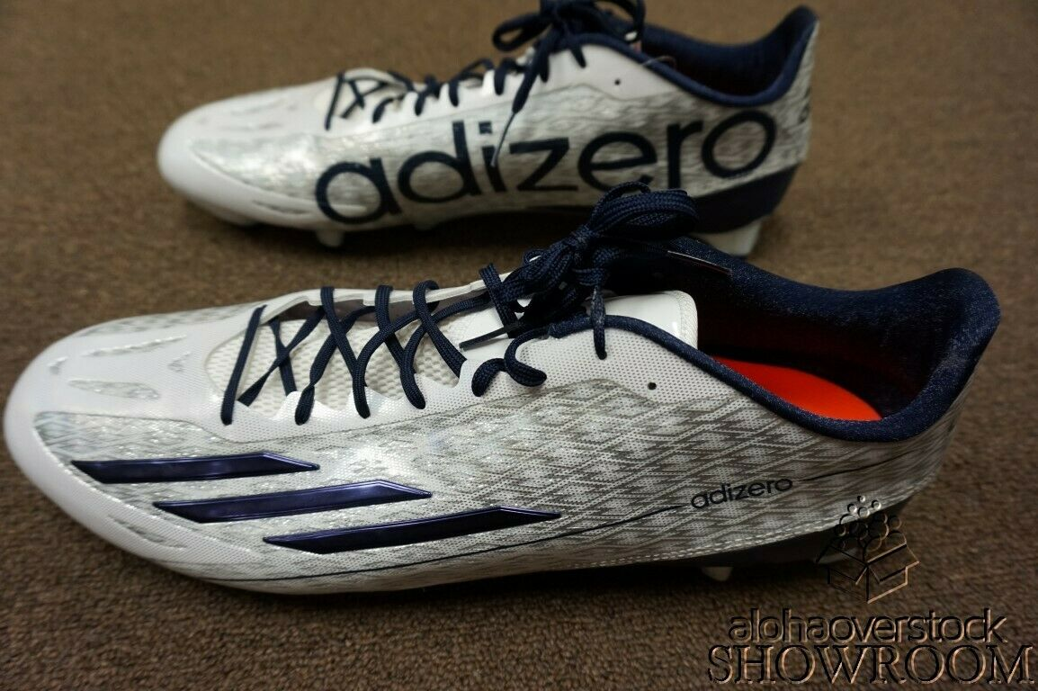 Brand New New New Men's Adidas Athletic Football Adizero 5-Star 4.0 White and bluee shoes bb7f64