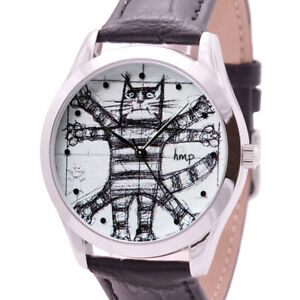 Image Is Loading Da Vinci Cat Watch Gifts For Lovers