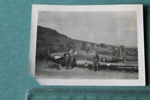 Foto-Photo-FI-Luftwaffe-Pilot-Flugzeug-airplane-Propeller-abgestuerzt-Kennung