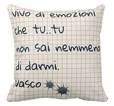 Vasco Rossi Frasi D Amore.Cuscino Personalizzato Vasco Rossi Frase Rewind Cuore Amore Regalo Ebay