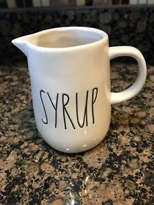 Rae-Dunn-Artisan-Collection-By-Magenta-SYRUP-Small-Pitcher-LL-Large-Letter-HTF