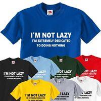 Men's I'm Not Lazy Funny T-Shirt Present Gift Top