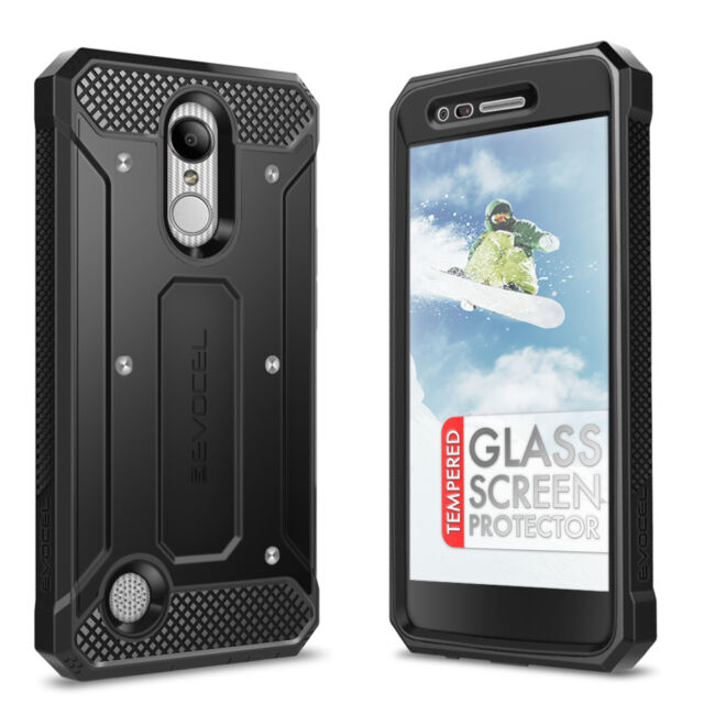 new styles bc808 04b94 Evocel LG Aristo Case Belt Clip Slim Profile Armor With Glass Screen  Protector