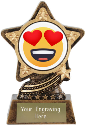Smiling Face With Heart Eyes Emoji Trophy by Infinity Stars™