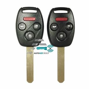 Honda Civic Key Replacement >> Details About 2 New Remote Replacement For Honda Civic Key Fob Keyless Entry Transmitter