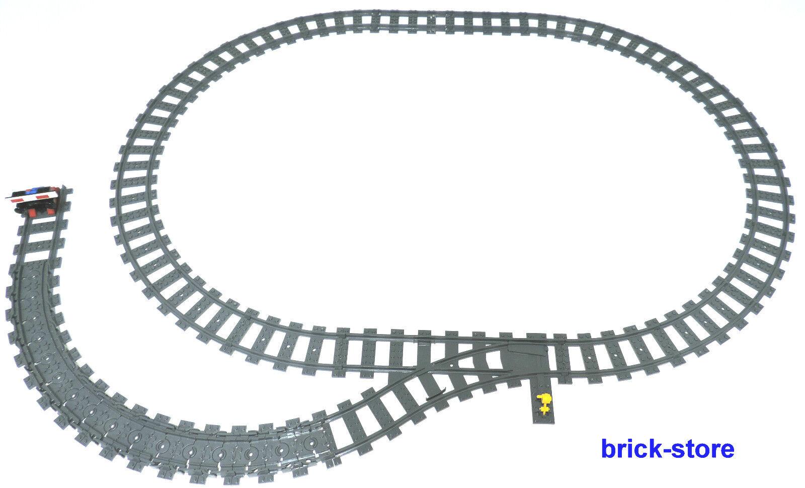LEGO ® Chemin de Fer Rails Cercle Avec Douce Gauche justement Flex Rails intermédiaire