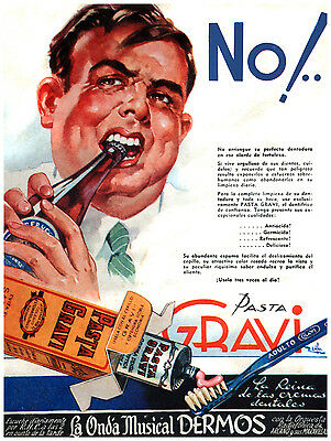 "037.Quality interior Design toothpaste ad poster/""Dentist great GIFT/""Gravi.Office"