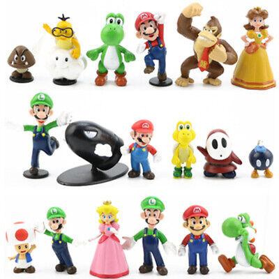 18 Stk//Set Super Mario Brothers Bros Action Figuren PVC Spielzeug Cake Topper