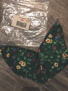 Longaberger-Liner-EMERALD-VINE-Fabric-PANTRY-Small-GATHERING-Basket-NEW-Floral