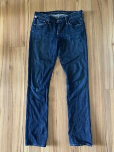 Citizens-Of-Humanity-Jeans-Size-27-Ava-Low-Rise-Straight-Leg-Dark-Wash-Stretch