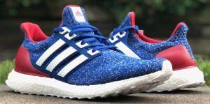 Adidas UltraBoost Zapatos Para Correr Azul Blanco Rojo