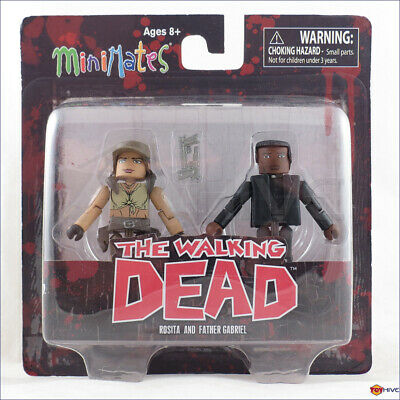 THE WALKING DEAD Minimates Series 8 Rosita and Father Gabriel