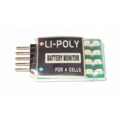 Industrioso Lipo Tester E Sensore Con Allarme Mantua Model 4692 Fino A 4 Celle Lieve E Dolce