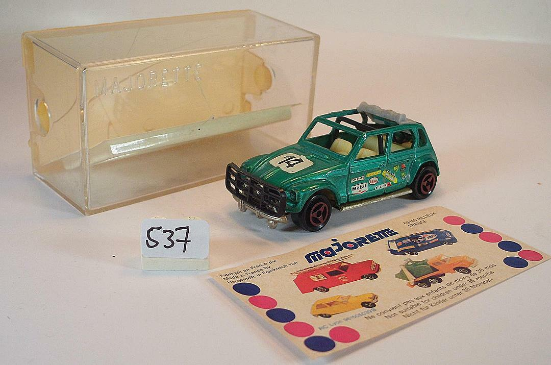 Majorette 1 60 no 231 CITROEN DYANE Rallye Green Metallic start number 14 OVP