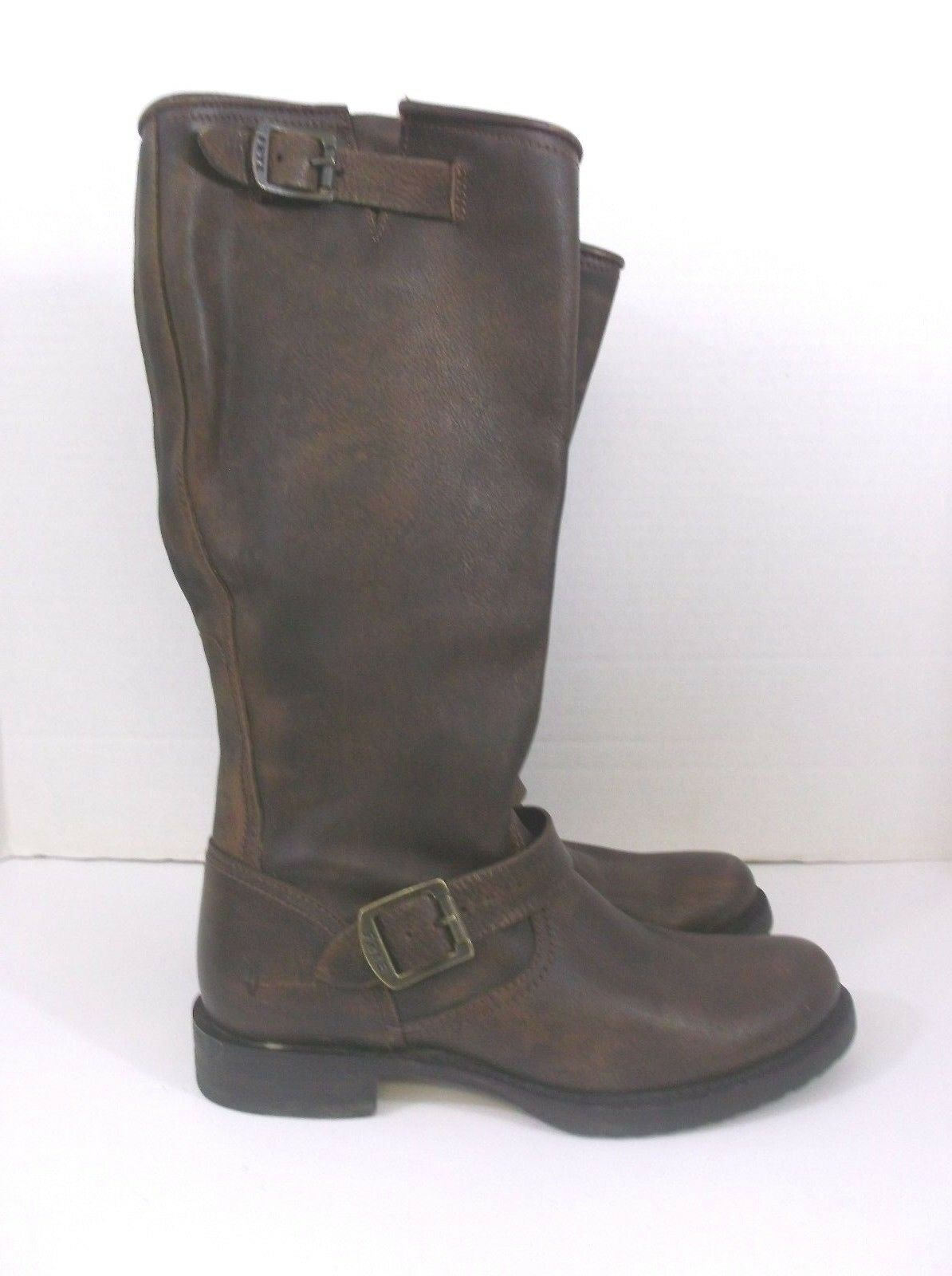 Frye Women's Boots Brown 8 Knee length Buckles NWT no box