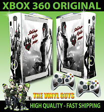 XBOX 360 OLD SHAPE STICKER CATWOMAN GOTHAM GIRL ARKHAM BATMAN SKIN & 2 PAD SKIN