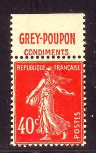TIMBRE-PUB-GREY-POUPON-40-c-semeuse-N-194-carnet-TTB