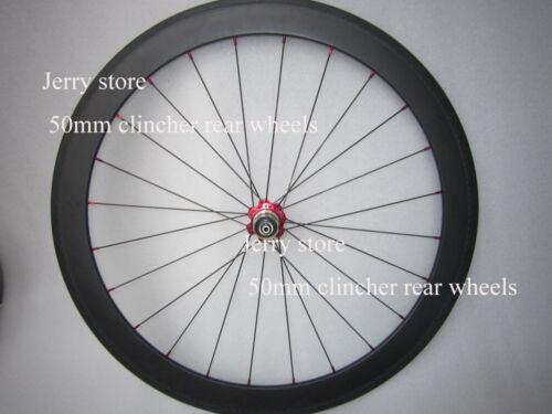 only rear wheel 50mm clincher,carbon fiber bike wheelset 700c
