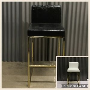 Enjoyable Details About Hollywood Regency Glamour Chic Modern Counter Stools Gold Frame Mid Century Cjindustries Chair Design For Home Cjindustriesco