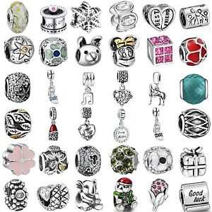 Fashion-Silver-Charms-Bead-Pendant-Fine-Jewelry-Fit-Sterling-925-Bracelets-Chain