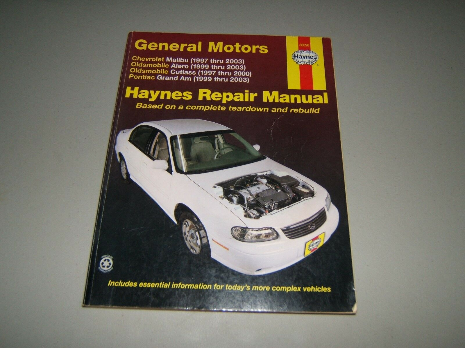 Chevrolet Malibu Alero Cutlass Grand Am Haynes Repair Manual 1997 Thru 2003  | eBay