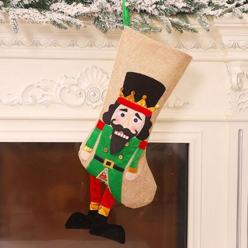 Christmas Stockings Sock Soldier Nutcracker Xmas Tree Candy Bag Hanging Pendalc