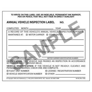 Details About 100 Annual Vehicle Inspection Label Vinyl W Mylar Laminate