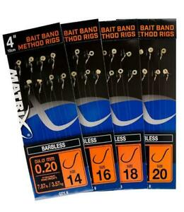 """Fox Matrix 4"""" Bait Band Method Rigs / Pole Fishing Rig"""