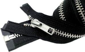 10pcs-Metal-Zipper-Bulk-YKK-5-Aluminum-Medium-Weight-Separating-6-034-250-034
