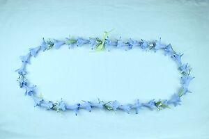 Hawaiian Lei Party Luau Floral Dance Hawaii Long Flowers Tuberose White Blue