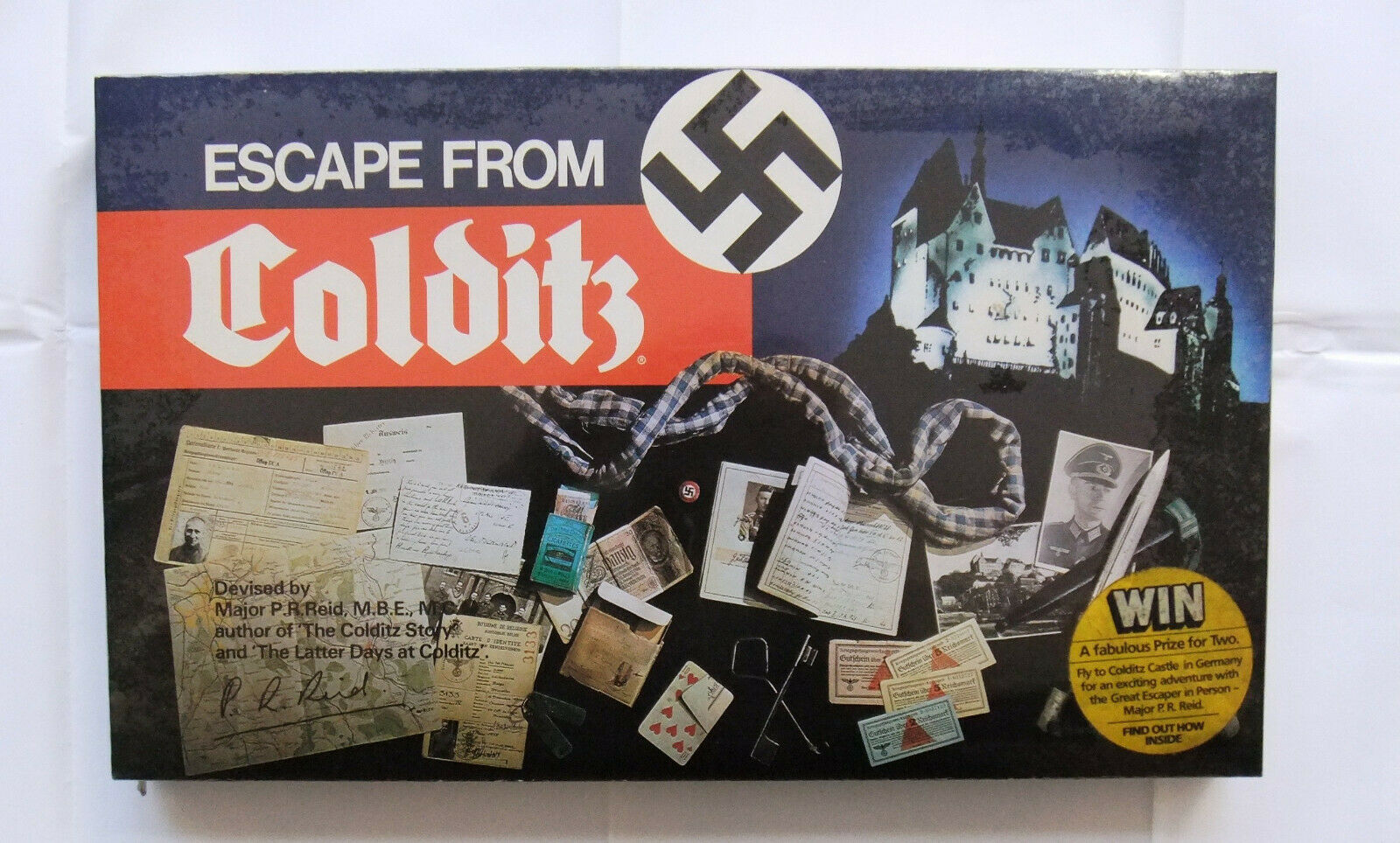 ESCAPE from Colditz Gibsons Boardgame Como Nuevo Sellado Nuevo Viejo Stock (primera Edición)