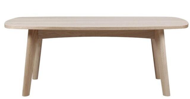 pkline Table basse 118x58cm salon chêne Table table en bois massif