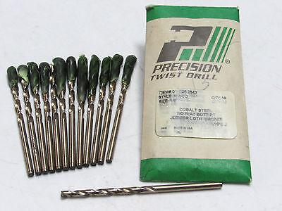 """6 pcs PTD 7//16/"""" x 1//4/"""" Reduced Shank Prentice Precision Twist Drills 091128 USA"""