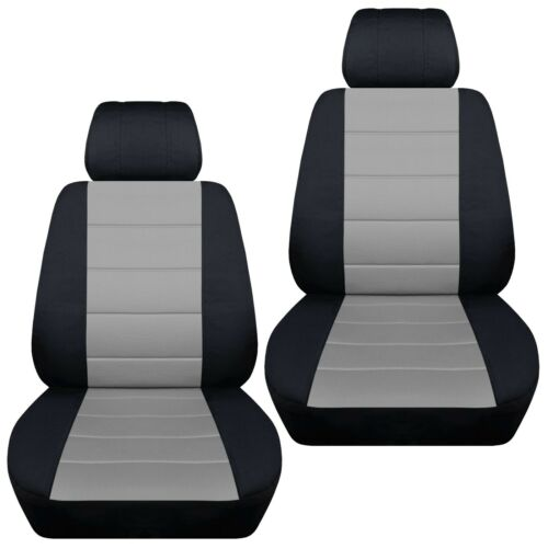 Front set car seat covers fits Ford EcoSport  2018-2020  black and silver