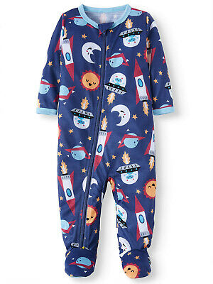 Superman Footed Blue Fleece Pajamas for Baby Boys Blanket Sleeper 18 Months